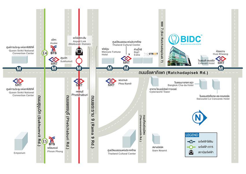 แผนที่ BIDC