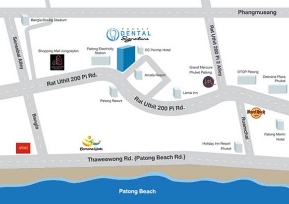 phuket dental map