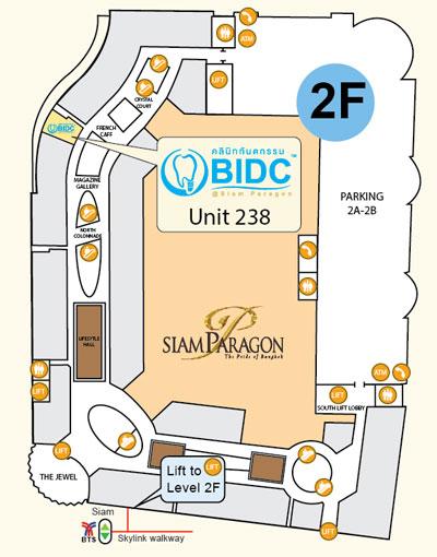Map of BIDC at Siam Paragon